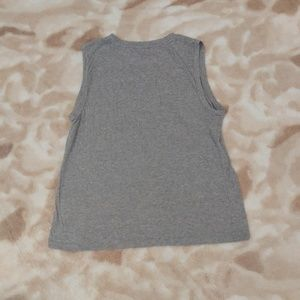 J. Crew Tops - J. Crew Blush Lace Applique Grey Tank Top - Small